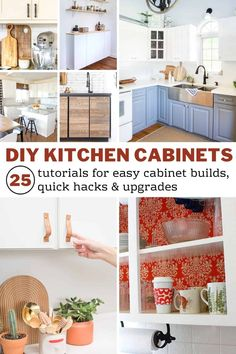 DIY Kitchen Cabinets - 25 Cheap and Easy Ideas for an Update - Joyful Derivatives Kitchen Cabinets Upgrade, Repainting Kitchen Cabinets, Kitchen Reno, Joyful, Easy, Goldfish Pond, Kitchen Confidential, Apartment Renovation, Cabinet Ideas