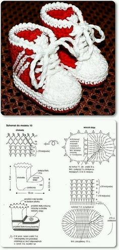 Handmade baby booties for baby gifts are easier than you think. You can create a nice one with a crochet hook and some yarn! If you love crocheting, here is a p Crochet Baby Boots, Crochet Slippers, Baby Blanket Crochet, Crochet Diagram, Crochet Chart, Crochet Patterns, Crochet Diy, Crochet For Kids, Baby Booties