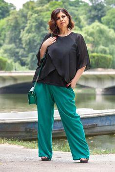 Bluza neagra din voal SNK PLUS 05 - AMA Fashion Plus Size, Cool Stuff, Pants, Fashion, Trouser Pants, Moda, Fashion Styles, Women Pants, Fasion