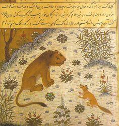 Kelileh va Demneh, manuscript uit het Topkapi-paleis in Istanbul