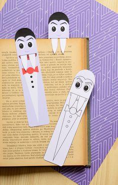 Printable Vampire Bookmarks - DIY Bookmarks - Easy Peasy and Fun
