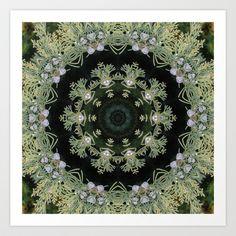 Juniper berries and branches mandala Art Print by RVJ Designs - $14.56