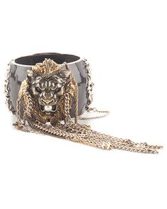 Spotted this Chanel Brown Enamel Lions Head Chain Detail Cuff on Rue La La. Shop (quickly!).