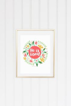 He Is Risen Easter Prints {new printable}