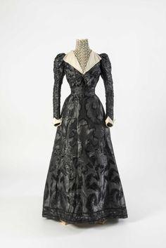 Early 1890s - Black figured silk