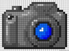 Camera perler bead pattern