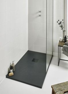97 Most Popular Bathroom Shower Makeover Design Ideas, Tips to Remodeling It Cibuta West Lafayette Contemporary Shower Remodel 3 Dream Bathrooms, Beautiful Bathrooms, Modern Bathroom, Master Bathroom, White Bathroom, Luxury Bathrooms, Small Bathrooms, Minimal Bathroom, Narrow Bathroom