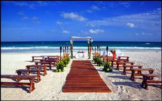 Possible Beach location/look...Akiin Beach Club » Fresa Weddings - Planning Destination Weddings in Mexico