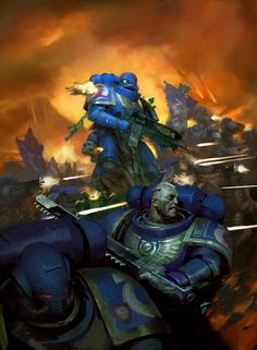 Space Marine Codex cover by Paul Dainton : ImaginaryWarhammer Warhammer 40k Art, Warhammer Fantasy, Space Marine Codex, Ultramarines, Warhammer Imperial Guard, Horror, Geek Art, Character Art, Character Design