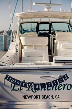 Just-Married-Getaway-Yacht http://newport-beach-yellow-cab.com