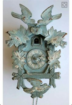Turquoise painted coo-coo clock