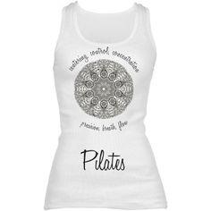 Pilates Principles | Pilates principles around a mandala design. Longer tank to stay put during workouts.   Samira