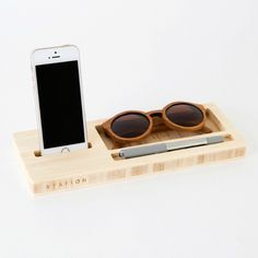 This charging station + desk organizer is multi-tasking at its finest.