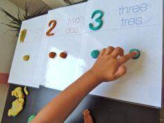 Aprendiendo los números con plastilina - Learning numbers with playdough