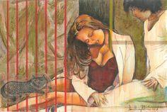 """Saatchi Online Artist daniel levy; Painting, """"intimacy"""" #art"""
