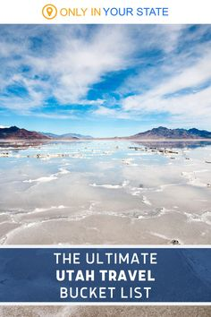 Whether you're a local or here on vacation, you'll want to add these mostly outdoor destinations to your travel bucket list. Explore all of the beautiful places Utah has to offer including the Bonneville Salt Flats, Frontier Homestead State Park, Meadow Hot Springs, Kanarraville Falls, Bear Lake, and more! | Day Trip Ideas | Things To Do | Family Friendly Kanarraville Falls, Utah Usa, Hidden Beach, Hot Springs, Day Trip, State Parks, Homestead, Places To See, The Good Place