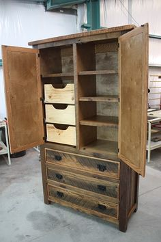 Ordinaire Heritage Reclaimed Barnwood Armoire. Primitive FurniturePrimitive ...
