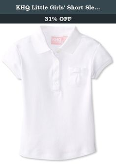 Burgundy Medium CLASSROOM Big Girls Interlock Cap Sleeve Polo