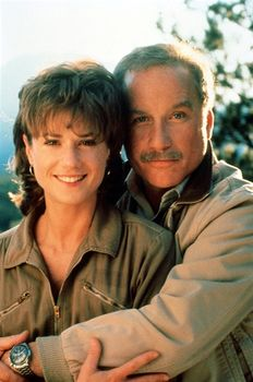 """Movie """"Always""""  holly hunter richard dreyfuss- Their cabin was our honeymoon cabin back in 1977  .... and another cute hair do  :)"""
