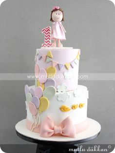 ideas birthday girl cake balloons for 2019 Baby Birthday Cakes, 1st Birthday Cakes, Girl Birthday, Balloon Birthday, Cupcakes, Cupcake Cakes, Nake Cake, Rodjendanske Torte, Balloon Cake