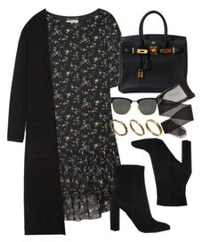 """Style #11686"" by vany-alvarado ❤ liked on Polyvore featuring Yves Saint Laurent, Theory, Gianvito Rossi, Hermès, Ray-Ban and Made"