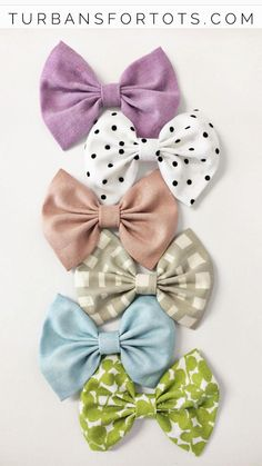 Baby Bow headbands {set of 6} available on clips or nylon headbands. Sizes newborn to 10 years!