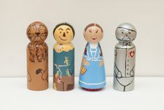 Wizard of Oz inspired Peg Dolls / Cake Toppers by anrcdb2006, $32.00