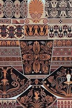 ancient greek pottery patterns | Greek Education and Culture #ancientgreekarchitecture