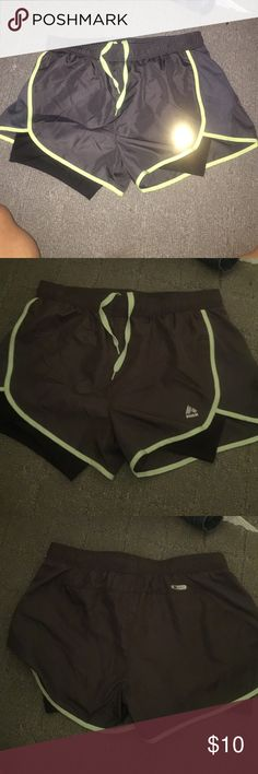 Athletic shorts Running shorts, athletic shorts, built in with underneath black. Veryyyyy comfortable. Just too small. Shorts