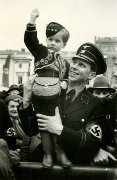 An SS officer with his son