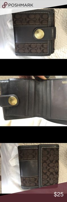 Coach Wallet Gently used chocolate brown. Coach Wallet gently used. Chocolate brown. Coach Bags Wallets