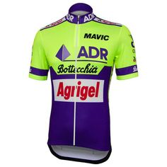 ADR Agrigel Bottecchia 1989 Retro Team Jersey | Freestylecycling.com Bicycle Paint Job, Old Bicycle, Cycling Jerseys, Men's Cycling, Cycling Outfit, Cycling Clothing, Vintage Bicycles, Jersey Shirt, Retro