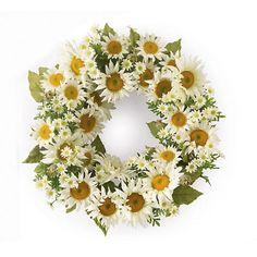 Daisy Wreath | Gump's So cute for spring or summer!