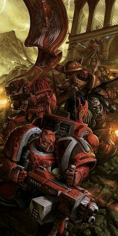 Blood Angels, go forth and bring the light of the Emperor. Warhammer 40000, Warhammer Art, Warhammer 40k Miniatures, Warhammer Fantasy, Ultramarines, Deathwatch, Science Fiction, Warhammer 40k Blood Angels, Fantasy Armor