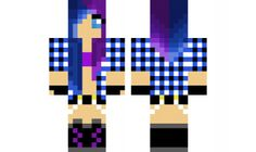 minecraft skin Purple-Blue-Punk-Girl