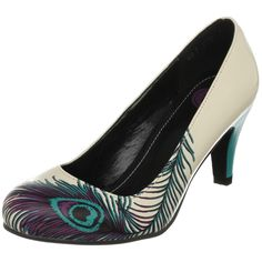 Peacock teal purple pumps heels Go graphic in this ultra-flattering pump from T.U.K. From its head-turning design to its versatile mid-height heel, this is a shoe that you'll reach for again and again.