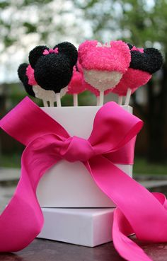 Minnie Mouse Cake Pops. $49.99, via Etsy.