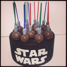 Star wars cakepops #Lightsabercakepops #starwars