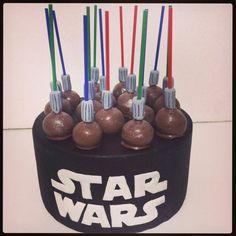 Star wars cakepops #Lightsabercakepops #starwars