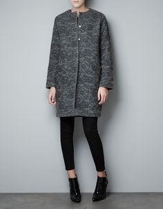 HOOK AND EYE FASTENED COAT - Coats - Woman - ZARA United States