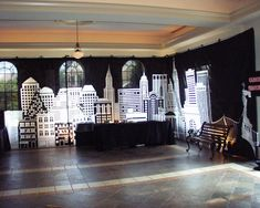 City Skyline Backdrop from Ideal Party Decorators - www.idealpartydecorators.com