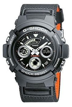 G-Shock Men's Quartz Watch with Black Dial Analogue - Digital Display and Black Other Strap AW-591MS-1AER: G-Shock: Amazon.co.uk: Watches