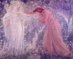 """Jean Delville - """"Dante Drinking the Waters of the Lethe"""""""