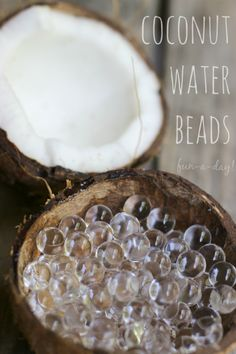 coconut water beads sensory play