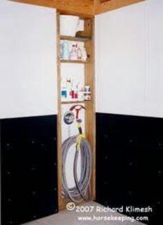 Awesome idea for storage in wash racks :)