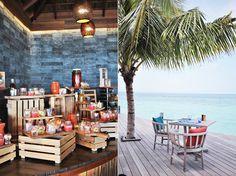 palmen frühstück insel malediven