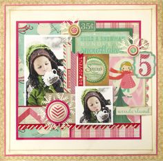 Fun winter layout created using Bundled Up Collection from Crate Paper