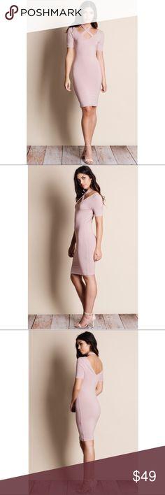 🆕Halter Criss Cross Dress - BLUSH Halter criss cross dress.  60% cotton 35% rayon 5% spandex Bellanblue Dresses