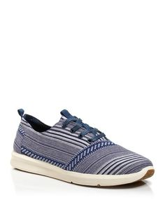 Toms Viaje Cultural Woven Lace-Up Sneakers