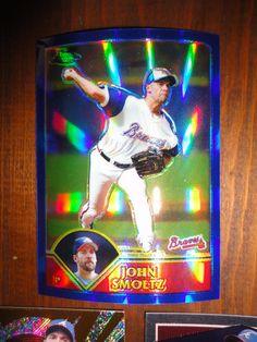 ** 3 MINT John Smoltz Atlanta Braves Baseball Cards Including A REFRACTOR **